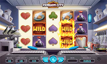 Penguin City Spielautomat Screenshot