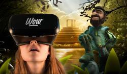 VR Brillen-Nutzer mit Gonzo von NetEnt
